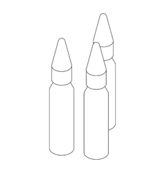 Bullets icon isometric 3d style vector