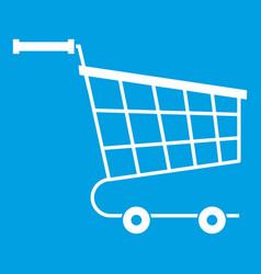Cart icon white vector