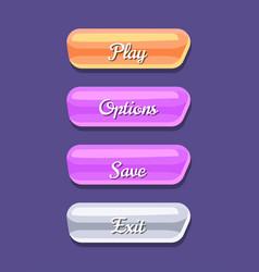 cartoon board for computer game menu interface vector image
