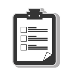 checklist note sheet vector image
