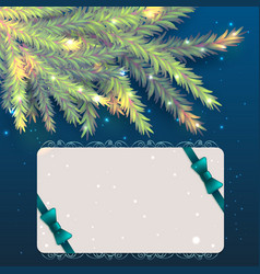 christmas and new year banner design vector image