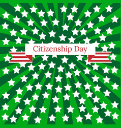 Citizenship day in united states 17 september vector