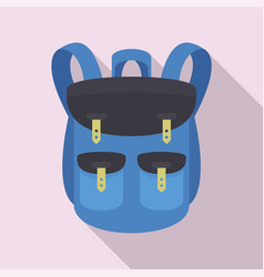 Climbing backpack icon flat style vector
