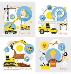Construction Label Concept Set vector image