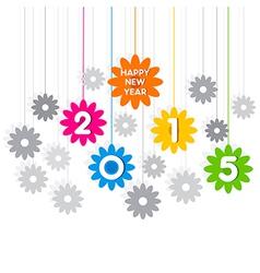creative happy new year 2015 greeting design vector image