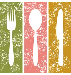 Cutlery background vector image