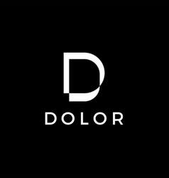 d letter white logo icon vector image
