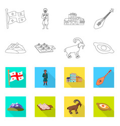 Design culture and sightseeing sign set vector