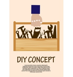 DIY concept with toolbox vector image