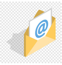 E-mail isometric icon vector