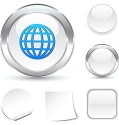 Earth icon vector