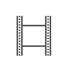 film strip icon line cinema symbol vector image