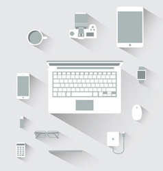 flat design devices computer concept vector image