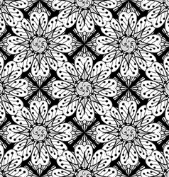 Floral Patterned Wallpaper vector image
