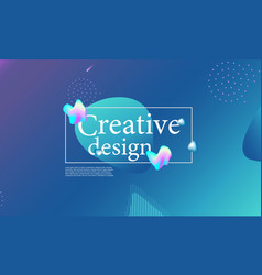 fluid shapes composition wavy cover design vector image