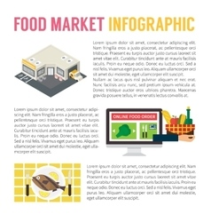 Food market infographics supermarket online vector