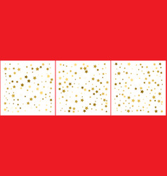 gold stars confetti abstract background with many vector image