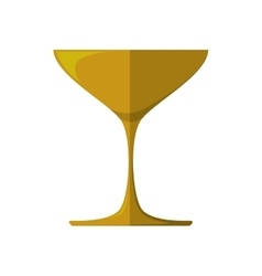 Gold trophy icon Winner design graphic vector