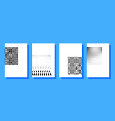 Halftone covers brochures template vector