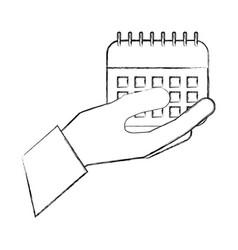 hand holding calendar reminder plan date vector image