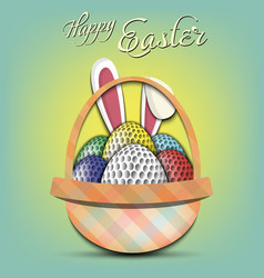 Happy easter golf balls in form eggs vector
