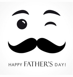 Happy fathers day smiling dad greeting card vector
