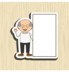 happy grandparent design vector image