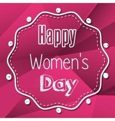 happy womens day design vector image