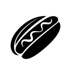 Hot dog with mustard icon simple style vector image