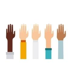 Human hand icon Teamwork design graphic vector