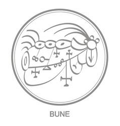 Icon with symbol demon bune vector