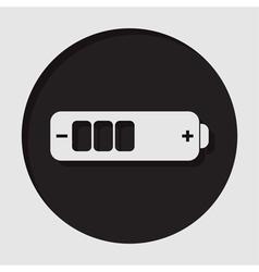Information icon - white battery medium vector