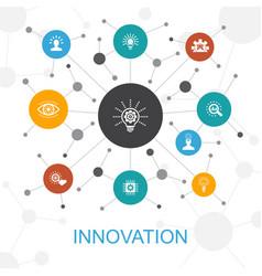 innovation trendy web concept with icons contains vector image