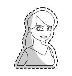 Isolated woman cartoon design vector