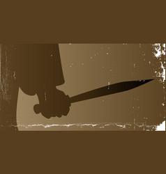 knife killer vector image