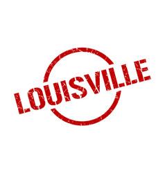 Louisville stamp louisville grunge round isolated vector