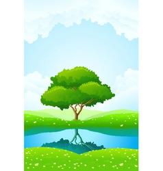 lush green landscape vector image