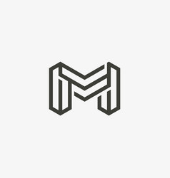 m logo template vector image