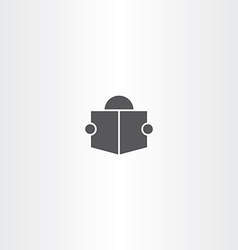 Man read book icon symbol sign vector