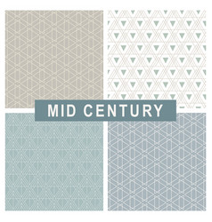 mid century modern abstract linear patterns set vector image