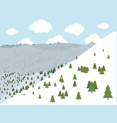 mountains2 vector image