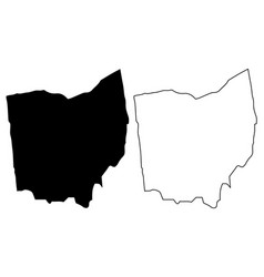 Ohio Outline Icon Vector Images 48