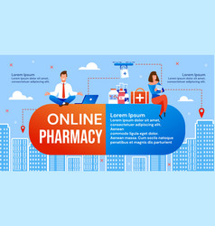 Online pharmacy and drone drug delivery service vector