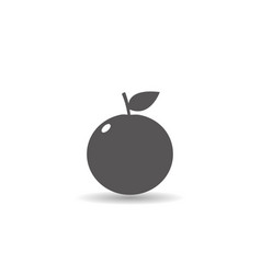 orange fruit icon simple flat style vector image
