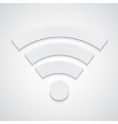 Paper wi-fi symbol vector