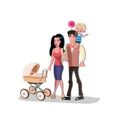 parents standing together with children vector image