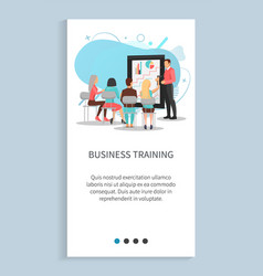 people discussion chart report training vector image