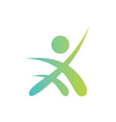 People success sport leader logo vector