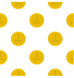 Peso pattern seamless vector
