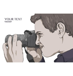 photographer man focus vector image vector image